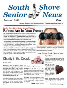 South Shore Senior News - February 2016 - COVER