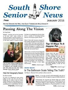 South Shore Senior News - January 2016 - Cover
