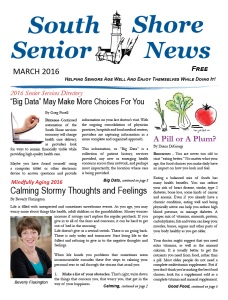 South Shore Senior News - March 2016 - Cover