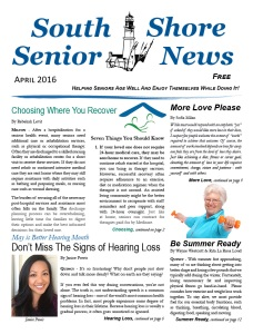 South Shore Senior News - April 2016 - Cover