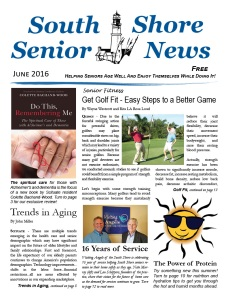 South Shore Senior News - June 2016 - Cover