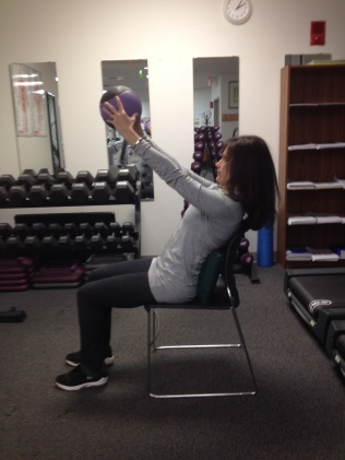 Medicine Ball Chest Press End Position Third Commercial Break